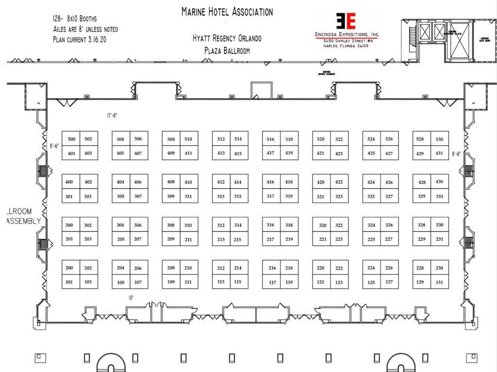 plaza ballroom floor plan